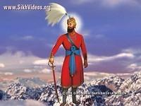 Guru Gobind Singh Ji on Snowy Mountain